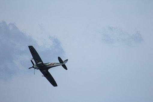 Battle Of Britain Airplane, Airshow, Plane, British