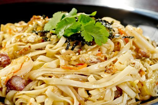 Noodles, Seafood, Fry, Mix, Grilled, Dish, Vegetables