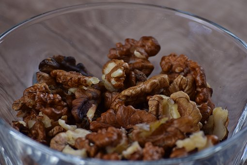 Walnut, Nut, Brown, Fruit Bowl, Snack, Delicious