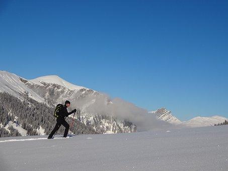Winter, Snow Shoes, Snow Shoe Trek, Tour, Powder Snow