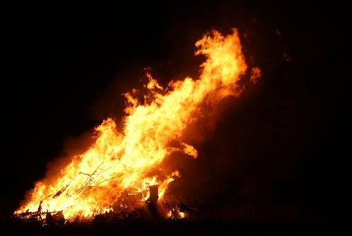 Bonfire, St Combs, Aberdeenshire, Scotland, Guy Fawkes