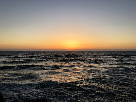 Sunset, Tel Aviv, Sea, Israel, Sky, Summer