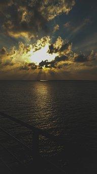 Sea, Travel, India, Arabiansea, Travelstories, Sunset