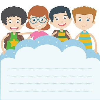 Illustration, Kids, Clipart, Graphics, The Classroom