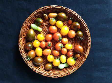 Tomatoes, Cherry, Tray, Harvest, Orchard