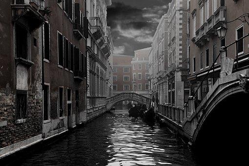 Venice, Channel, Gondola, Home, Facade, Water