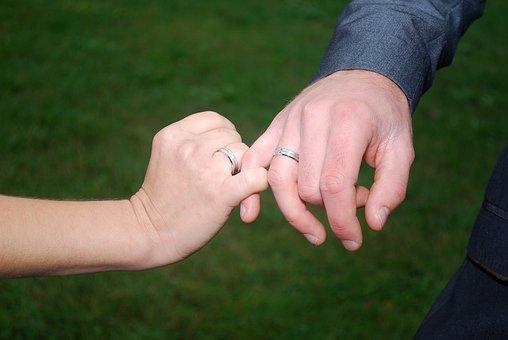 Wedding, Hands, Wedding Rings, Connected Hands, Love