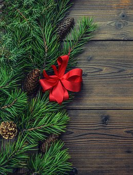 Background, Christmas, Pine, Wooden