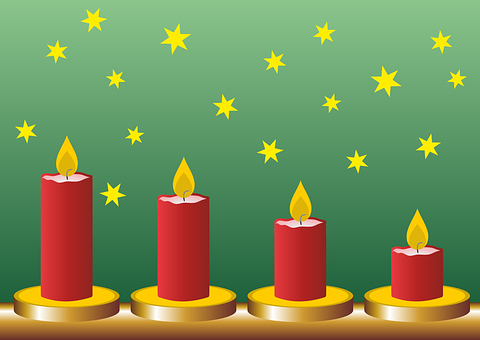Advent, Fourth Advent, Candles, Advent Arrangement