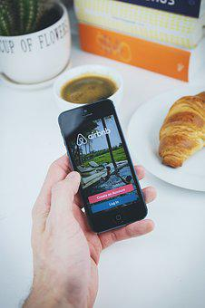 Airbnb, App, Apple, Book, Coffee, Croissant, Hand