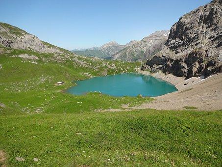 Bergsee, Alpine, Bernese Oberland, Steering, Water