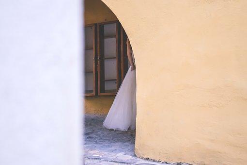 City, Architecture, People, Bridal, Bride, Dress
