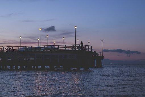 Nature, Baltic, Beach, Bridge, Clouds, Dusk, Evening