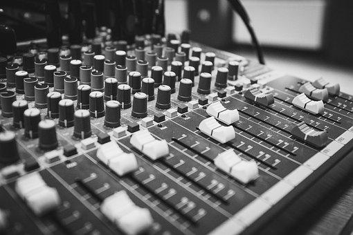 Audio, Black And White, Black, White, Concert, Console