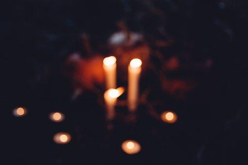 Autumn, Black, Blur, Blurred, Candle, Candles