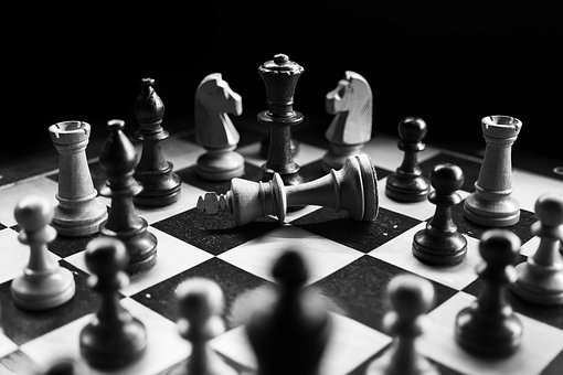 Chess, Checkmated, Chess Pieces, Black White