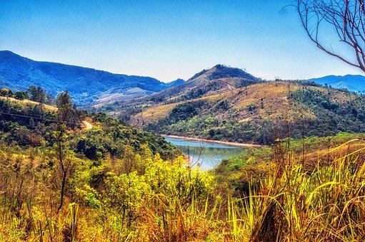 Rio, Dam, Lake, Water, Sky, Blue, Cloud, Summer, Weir