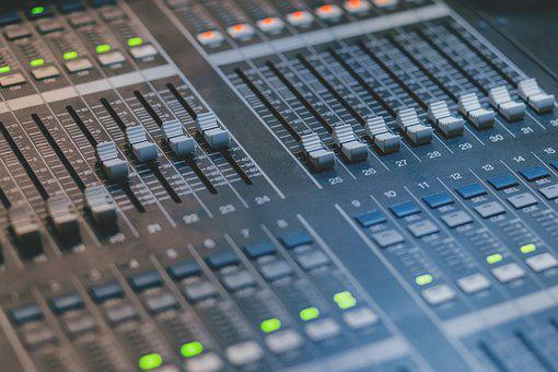 Audio, Black, Board, Broadcast, Buttons, Closeup