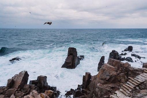 Nature, Black, Black Sea, Bulgaria, Cliffy, Clouds