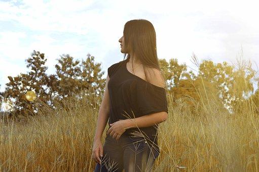 Nature, Women, Montes, Landscape, Water, Girl, Flowers