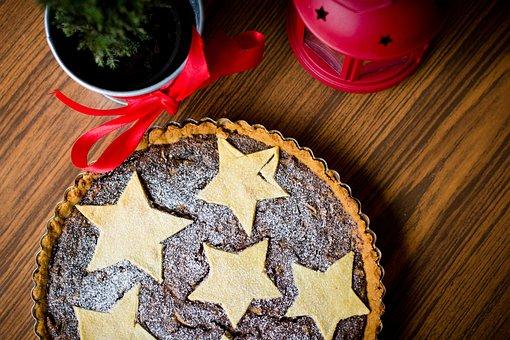 Food, Drinks, Apple, Apples, Christmas, Pie, Powdered