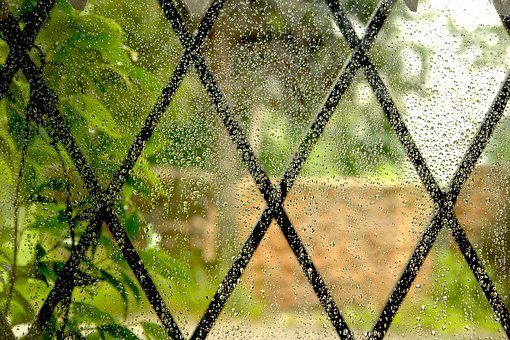 Drops, Rain, Grateful, Wet, Drop, Rainy Window, Rainy