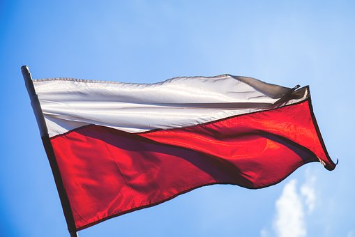 Flag, National, Poland, Polish, Red, Sky, Waving, White