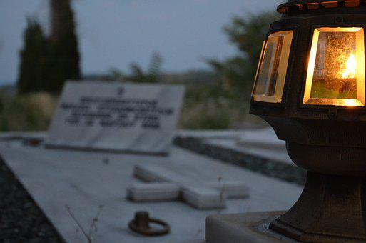 Tomb, Candle, Cemetery, Scary, Landscape