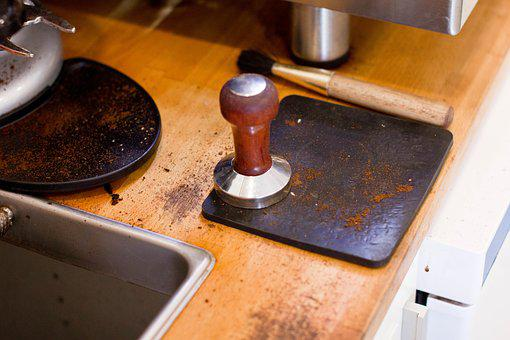 Food, Drinks, Cafe, Coffee, Espresso, Table, Tamper