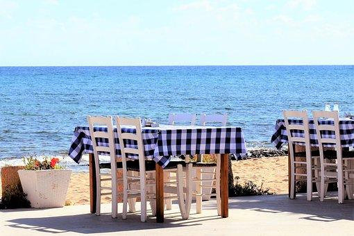 Table, Chairs, Tavern, Taverna, Greek, Traditional, Sea