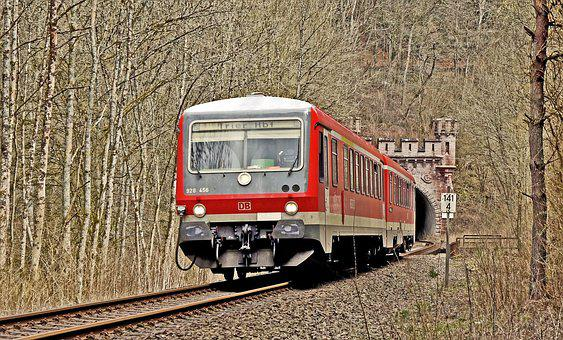 Tunnel Exit, Diesel Railcar, South Eifel, Kylltal