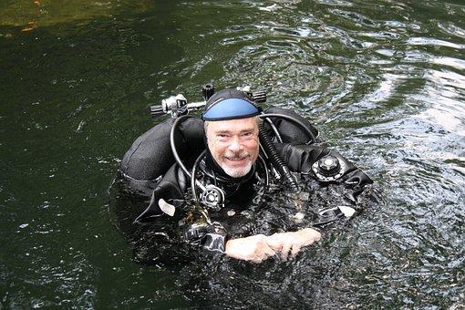 Cave Diver, Scuba, Underwater, Cave, Diver, Nature
