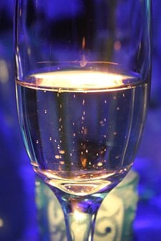 Bubbles, Light, Champagne, Shiny, Drink, Party, Foam