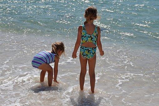 Swim, Water, Child, Girl, Fun, Sport, Nature, Sand