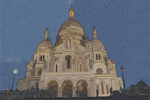 Sacré Coeur, Church, Paris, Capital, France, City
