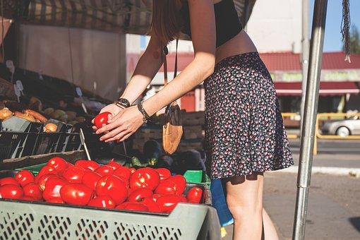 People, Buy, Choice, Customer, Female, Food, Fresh