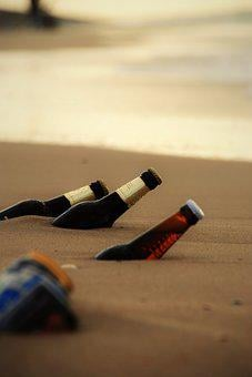 Beer, Beach, Bottles, Holiday, Wave, Sand, Alcohol