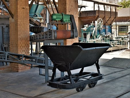 Wagon, Old Factory, Industrial, Building, Brick Factory