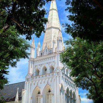 Singapore, Church, Tropics, Architecture, Landmark