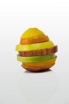 Fruit, Apple, Orange, Mandarin, Lemon, Fruits, Frisch