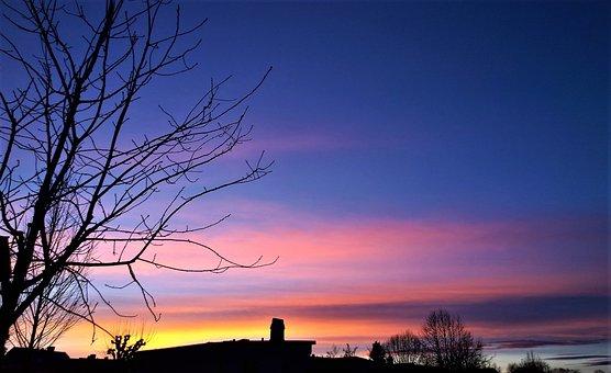 Sunset, Himmel, Horizon, Twilight, Nature, Beautifully