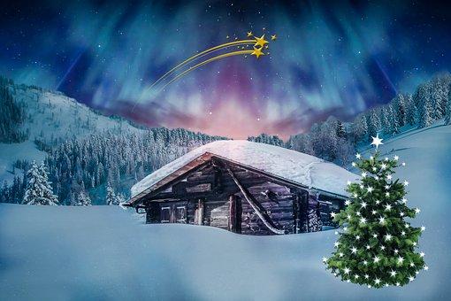 Christmas, Christmas Motif, Winter, Northern Lights