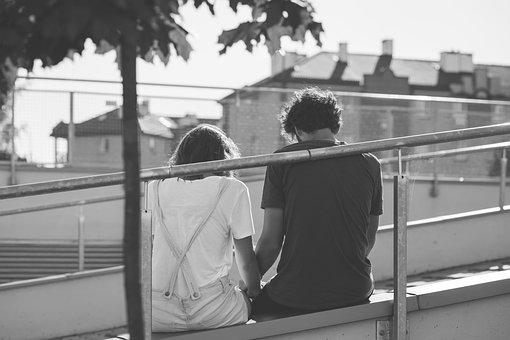 People, Black And White, Boy, Chill, Couple, Date, Girl