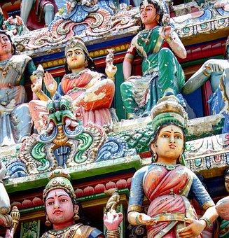 Temple, Hindu, Singapore, Asia, Religion, Travel