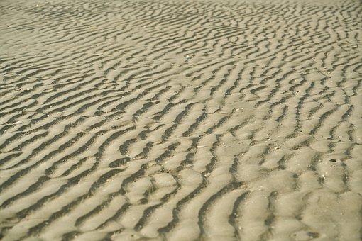 Sand, Beach, Texture, Detail, Pattern, Color Image