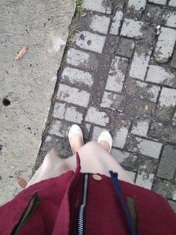 Walking, Shoes, Road