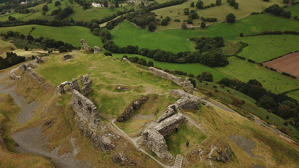 Castle Dinas Bran, Uk, Tourism, Historic, Castell