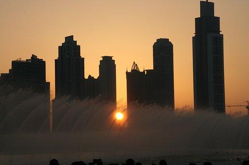 Dubai, Dancing Fountains, United Arab Emirates
