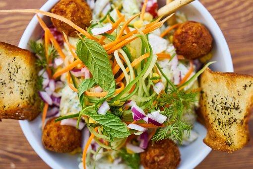 Salad, Bread, Diet, Vegan, Vegetarian, Tomato, Organic