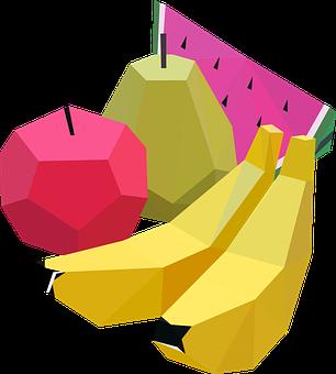 Fruit, Pear, Banana, Watermelon, Apple, Food, Green